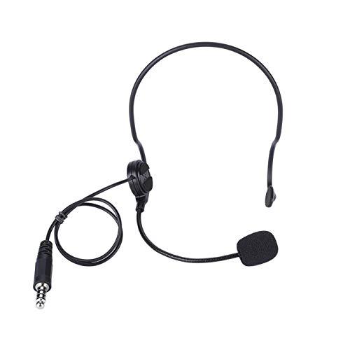 DAUERHAFT Auriculares con micrófono Radioaficionado Cómodos Auriculares con Banda para el Cuello sin pérdidas, para guardaespaldas, para radioaficionados, para Oficina de Negocios
