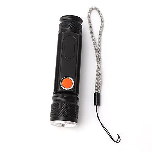 Linterna telescópica, calidad de vida calidad aleación de aluminio aleación de aleación de aleación solar antorcha luces aleación de aluminio hecho para la emergencia de acampar (negro)