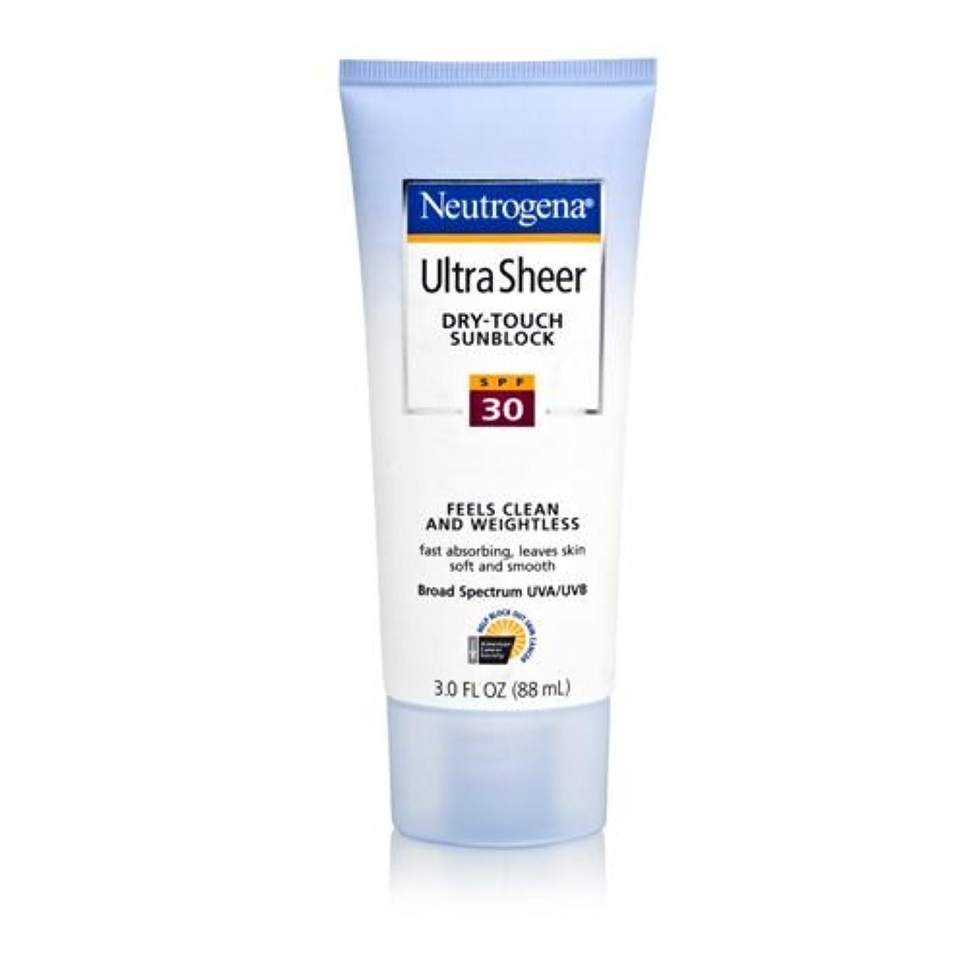 うがい薬メガロポリス酔ったNeutrogena Ultra Sheer Sunblock Dry Touch SPF 30 (並行輸入品)