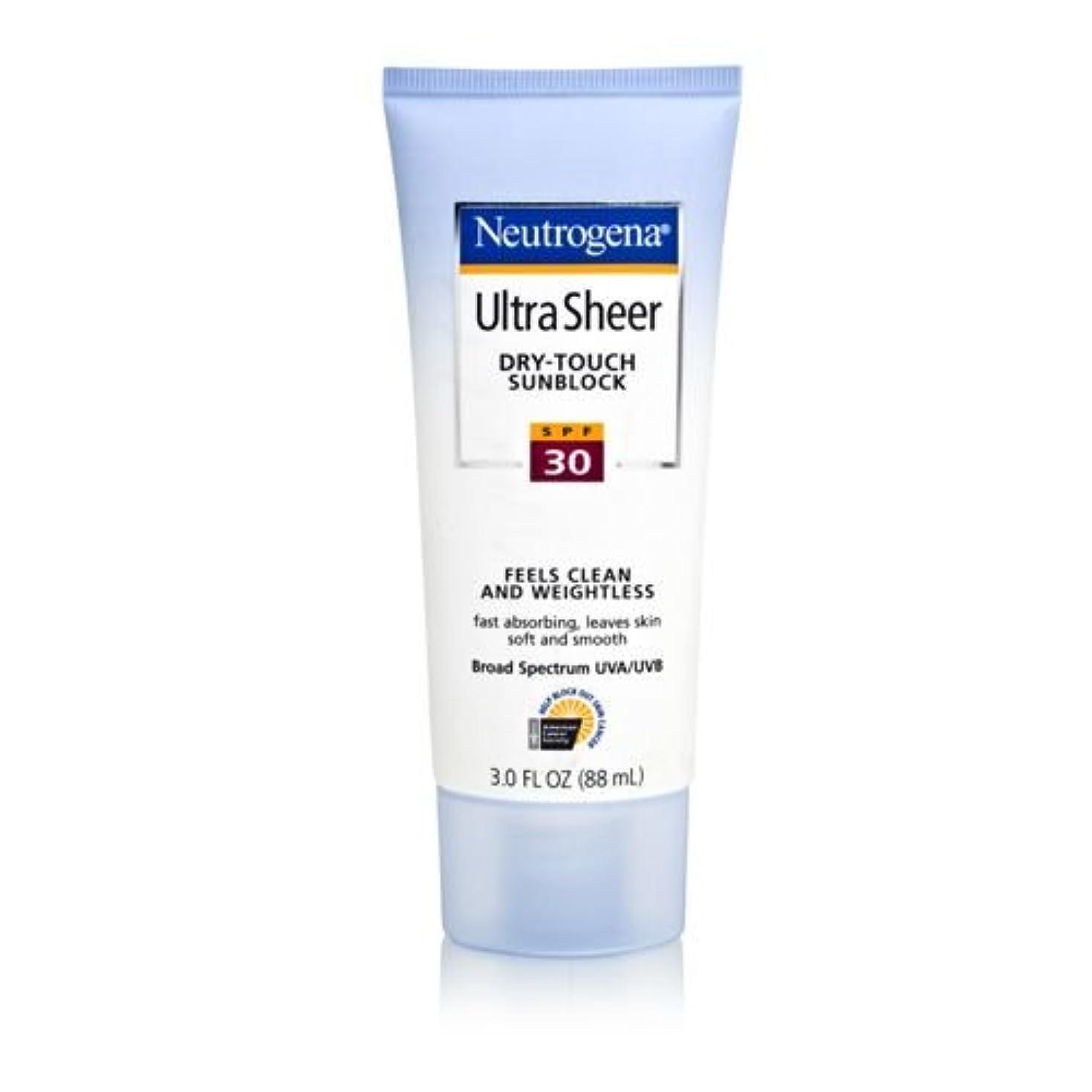 レビュアーグラマー保証Neutrogena Ultra Sheer Sunblock Dry Touch SPF 30 (並行輸入品)