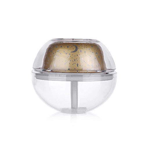 USB Crystal nachtlamp projector 500ml luchtbevochtiger Desktop Geurverspreider ultrasone mistmaker LED-nachtlampje voor thuis-Goud