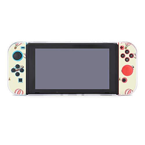 Funda protectora para Nintendo Switch, helicóptero globo y cohete duradera funda para Nintendo Switch y Joy Con