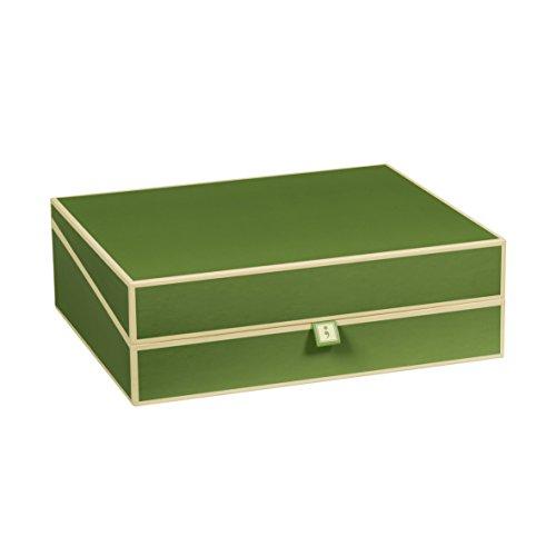 Semikolon (352576) Dokumentenbox irish (dunkel-grün) - Aufbewahrungs-Box für Dokumente im A4 Format - geräumige Box im Format 31,5 × 26 × 10 cm