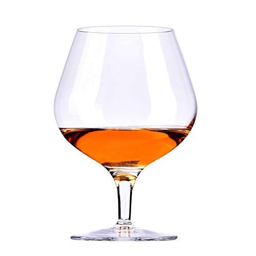 WWWANG Brandy Whisky Copas de Vino de Cristal sin Plomo Almacenamiento pequeño, práctico y portátil (Color : Clear, Size : Brandy-230ml)