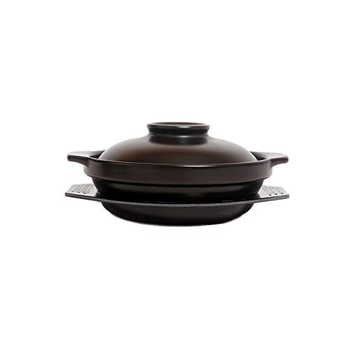 CJTMY Cacerola con Tapa, Olla de cocción de cerámica, Olla Caliente, Olla de Sopa multifunción, Cacerola