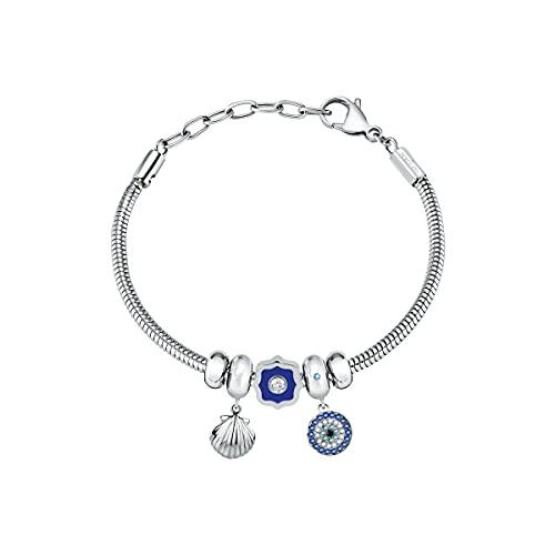 Morellato Drops Pulsera Mujer, en Acero, cristales - SCZ1133