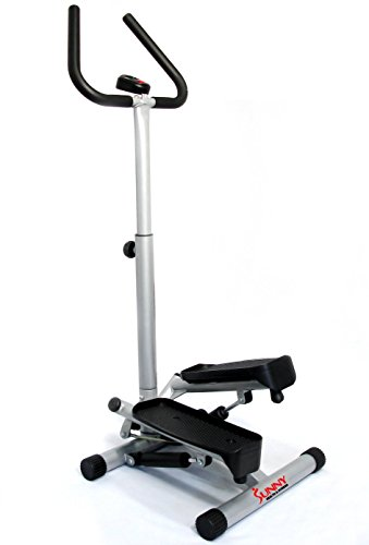 Sunny Health & Fitness NO. 059 Twist Stepper Step Machine w/Handle Bar and LCD Monitor