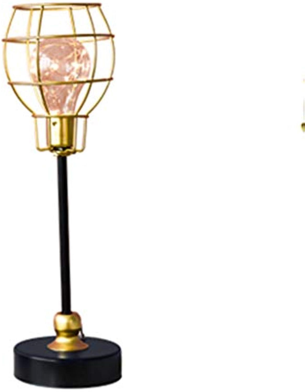 LIYONG LED Tischlampe Schmiedeeisen dekorative Tischlampe Schlafzimmer Nachttischlampe Studie Beleuchtung Dekoration Ornamente (gre   C)