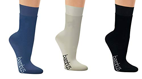 Viskose-Socken, 3 Paar, atmungsaktiv gegen Schweißfüße, Komfortbund, Strümpfe, Anzugssocken,...