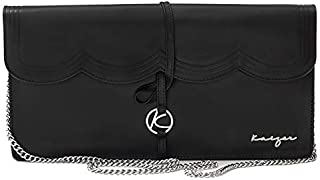 Kaizer KZ2205BLK Leather Cluthces Bag for Women - Black