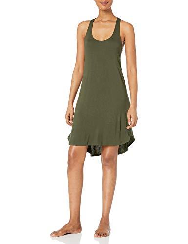 Mae Long Racerback Lounge Dress night-shirts, Verde bosque, US L (EU L - XL)