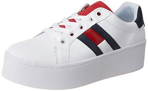 Tommy Hilfiger Tommy Jeans Icon Sneaker, Zapatillas para Mujer, Rojo (RWB 020), 38 EU