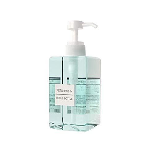 Newhashiqi Travel Cosmetics Sous-flacon de 450 ml Peut être rempli bouteille de pression Pompe de shampooing Cosmétique Liquide