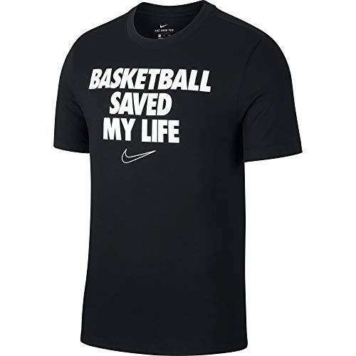 Nike Herren Pro Dry Verbiage T-Shirt, Schwarz (Black), (Herstellergröße: Medium)