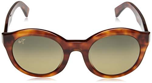 Maui Jim Jasmine Gafas de sol Mujer, Montura Koa Tortoise Lentes Polarizadas cristal Bronze HCL superfino