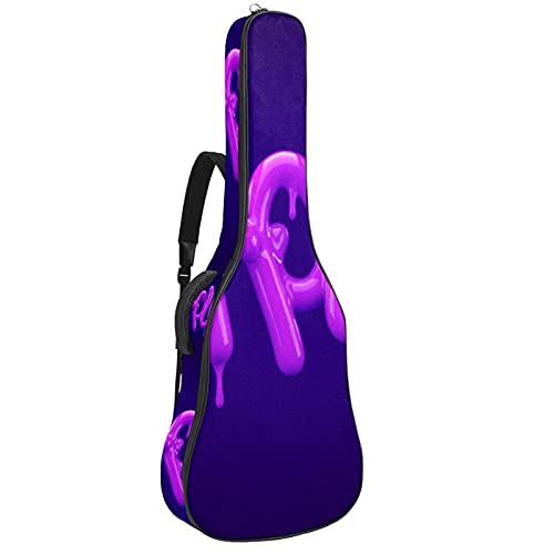 Funda para guitarra eléctrica, color morado, con asa y correa para el...