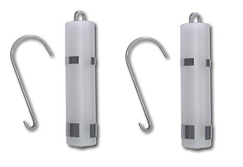 Set van 2 luchtbevochtigers gesatineerd glas waterverdamper voor verwarming radiator verdamper vlakke verdamper met roestvrijstalen houder