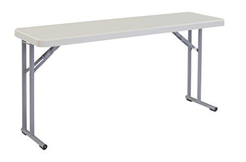 NPS 18' x 60' Heavy Duty Seminar Folding Table, Speckled Gray, 700 lb Capacity