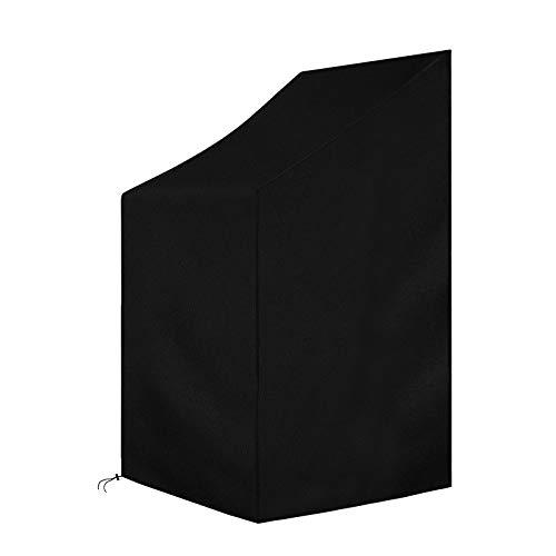Create Idea - Funda para silla de jardín (impermeable, 65 x 65 x 120 x 80 cm), color negro
