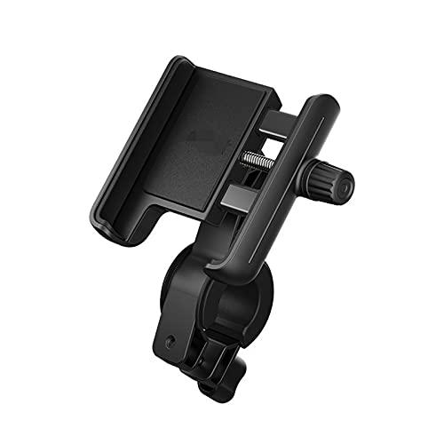 XUELINGTANG Soporte de teléfono Ajuste para Scooter eléctrico Ajuste para Ajuste de Ninebot para MAX G30 Skateboard Manillar Teléfono GPS Titular de Silicona Accesorios (Color : Black)