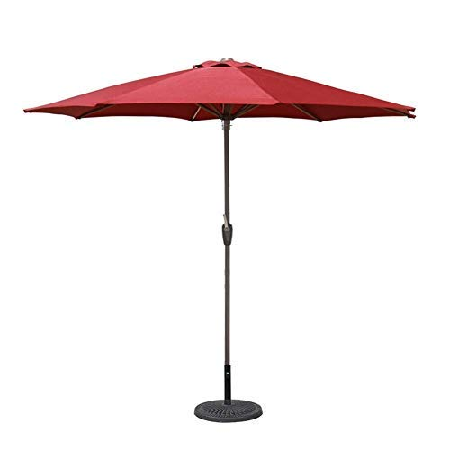 Outdoor Protect 9ft Outdoor Patio Umbrella Market Style For Balcony Table Terrace Garden Deck Yard Shade Or Pool Side, 8 Sturdy Ribs Iron Pole (Color : Red, Size : 9 Ft/270cm) (Color : Green, Size