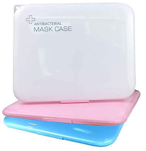 MASMAS 3 x Estuche para Mascarillas, Caja Portátil para Guardar Máscaras, Recipiente Ecológico, Materiales Libres de Contaminación, Caja Almacenamiento Mascarilla