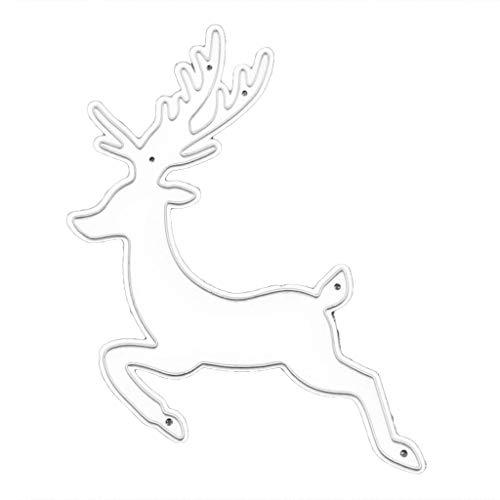 llwei258 Koolstofstaal Kerst hert snijden Die Embossing sjabloon sjabloon mal DIY Papier Art Handcraft Scrapbook Bookmark Card Decor