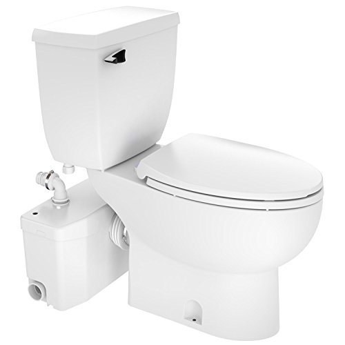 Saniflo SaniPLUS: Macerating Upflush Toilet Kit (with Elongated Bowl + Extension)