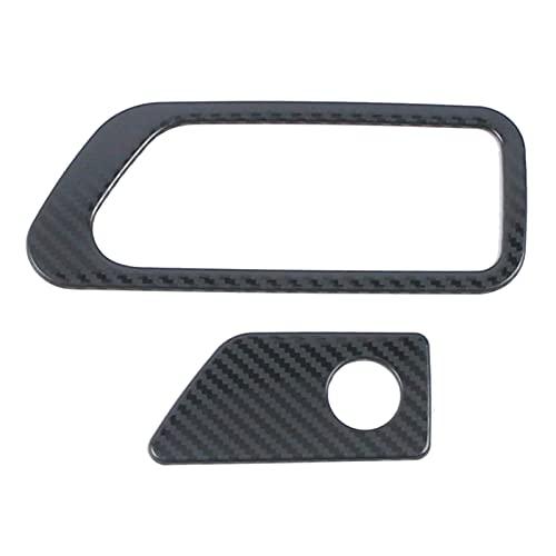 Yi Pin Adatto per Ford Explorer U625 2020 2021 Scatola portaoggetti in acciaio inox per auto interruttore maniglia della porta Trim decorazione paillettes (colore Nome: fibra di carbonio stile)