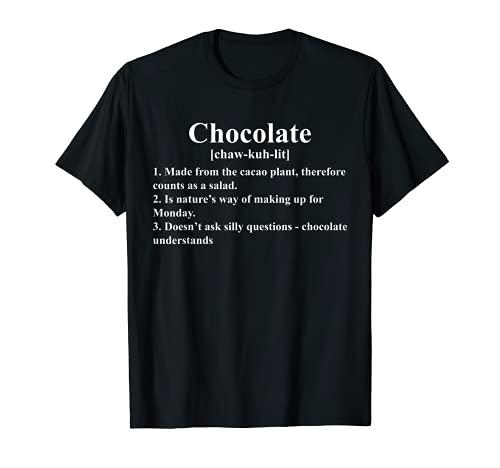Cioccolato Definizione Sarcastico Cacao Pianta Insalata Maglietta
