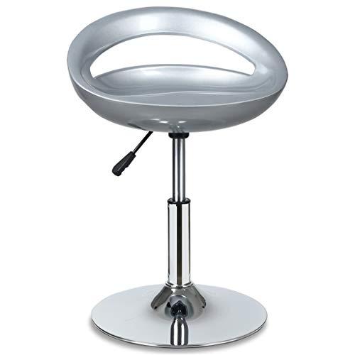 BAR STOOL WGZ - Silla de bar, silla de café, silla elevadora, taburete alto para la familia, taburete alto, color azul y multicolor (color: gris claro)