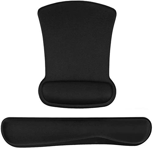 HYE-Table 2-Piece Set Keyboard and Mouse Wrist Rest Pad | Ergonomic Mouse Pad with Wrist Rest for Pain Relief | Great for Computer Office Home Game