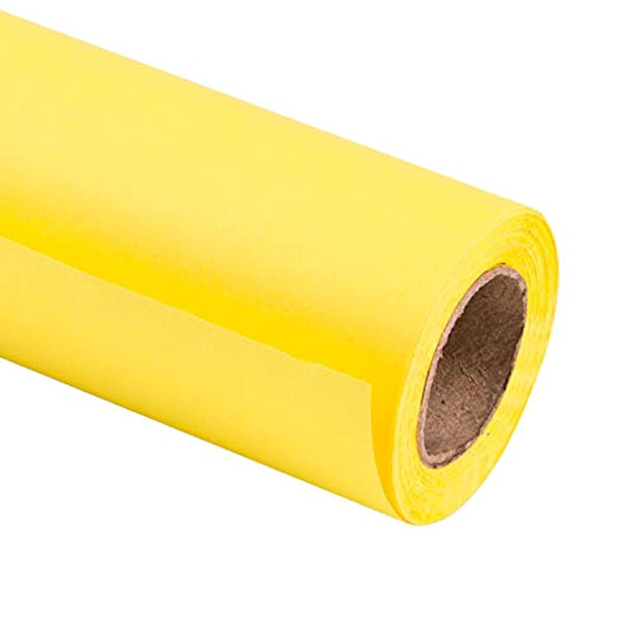RUSPEPA Lemon Yellow Kraft Wrapping Paper - 81.5 Sq Ft Heavyweight Paper for Wedding,Birthday, Shower, Congrats, and Holiday Gifts - 30Inch X 32.8Feet Per Roll