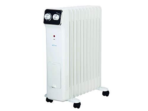 PURLINE HOTI OR2500 Radiador de Aceite, 2500 W, 11 Elementos, termostato, 3 Niveles de Potencia, regulador de Potencia para un bajo Consumo