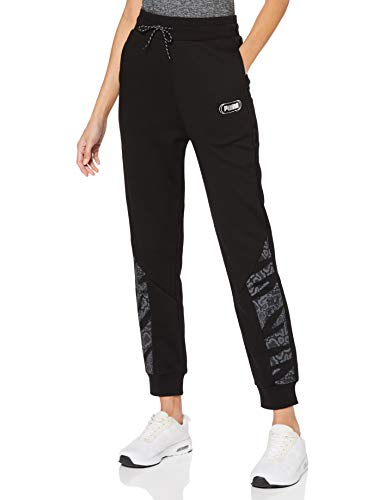 PUMA Rebel High Waist Pants TR Cl Chándal, Mujer, Black-untamted, M