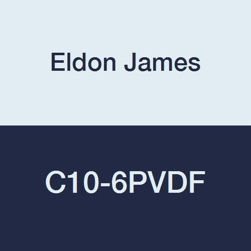 Eldon James C10-6PVDF Industrial Gray Free shipping anywhere online shop in the nation Coupler 5 Reduction Kynar