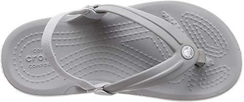 Crocs Unisex-Kinder Crocband Strap Flip Zehentrenner, Grau (LightGrey 007b), 29/30 EU