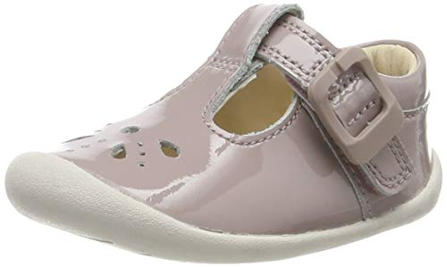 Clarks Unisex-Kinder Roamer Star T Niedrige Hausschuhe, Pink (Pink Pat Pink Pat), 17.5 EU