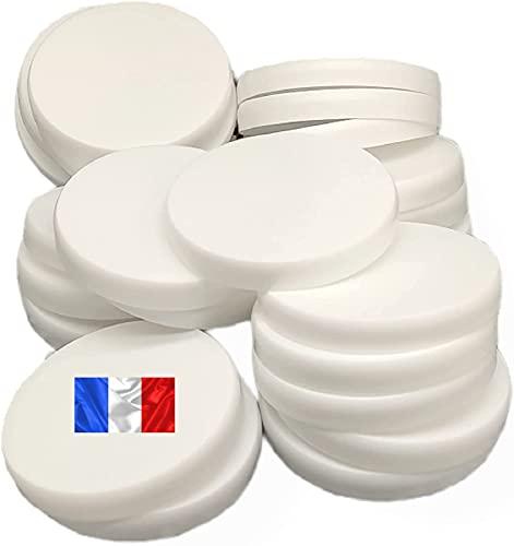 Couvercles pot yaourt lot de 12 réutilisable – couvercles pour pot de yaourt diamètre 56mm – compatible avec pot de yaourt la laitière et d'autre pot de yaourt du commerce. (Lot de 12)