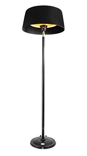 Firefly 2.100 Watt Infrarot-Heizstrahler (Halogen) Terrassenheizung, freistehend, 3 Leistungsstufen, schwarz