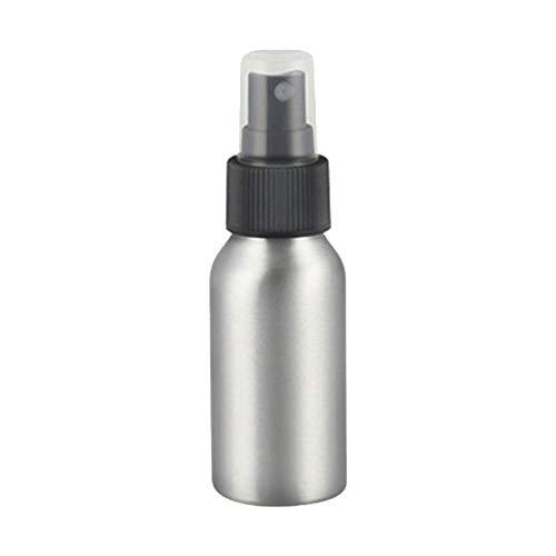 Solustre Aluminium Sprühflasche Nachfüllbar Leer Tragbar Zerstäuber 100ml Kosmetikflasche für Parfüm Ätherisches Öl Sonnenschutz Lotion Make Up Kosmetik Wasser Reisebehälter