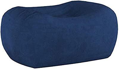 Comfy Sacks 6 ft Lounger Memory Foam Bean Bag Chair, Royal Blue Micro Suede