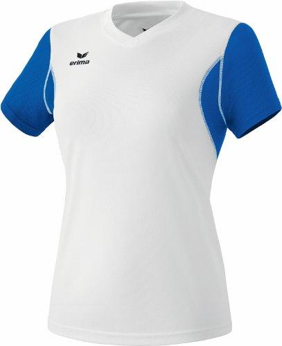 Erima Femmes-T-Shirt de Course à Pied XS Multicolore - weiß/New Royal