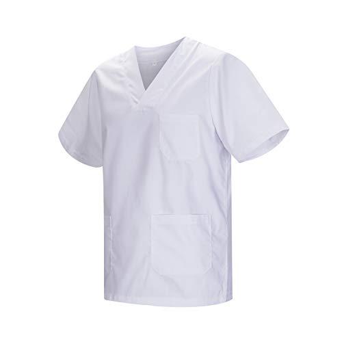 MISEMIYA - Casaca Unisex MÉDICO Enfermera Uniforme Limpieza Laboral ESTÉTICA Dentista Veterinaria Sanitario HOSTELERÍA - Ref.817 - S, Blanco