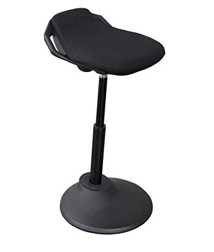 Ergonomic Adjustable Standing Desk Chair with Plush Perch, Black