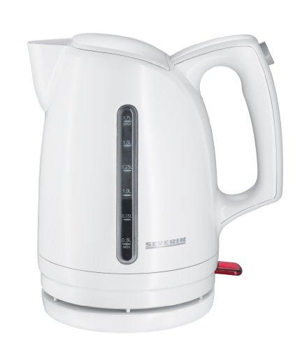 Severin WK 3476 Wasserkocher, weiß / 1,7 Liter Inhalt / 3000 W