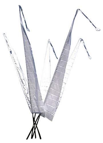 DEKOVALENZ - Bali-Fahnen Stoff NUSA DUA mit Rauten-Spitze, versch. Farben+Längen, Farbe:Weiss, Fahnenlänge:5 Meter