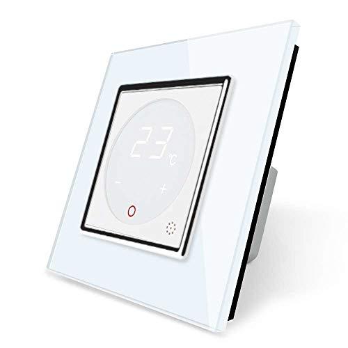 Livolo VL-C7-01TM-11 - Termostato con marco de cristal para calefacción por suelo radiante, color blanco