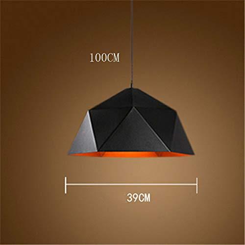 Lámpara de suspensión LED moderna Lámpara de suspensión de hierro decorativa industrial E27 Lámpara LED para el hogar