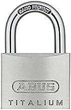 ABUS Hangslot Titalium 64TI/40 - set van 4, gelijksluitend - slotlichaam van speciaal aluminium - geharde stalen beugel - ...